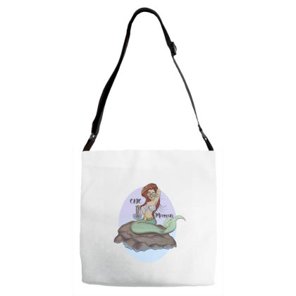 Mermaid Chic Adjustable Strap Totes Designed By Dtovarts