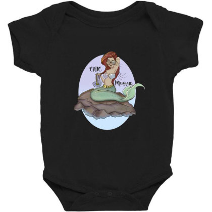 Mermaid Chic Baby Bodysuit Designed By Dtovarts