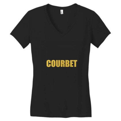 Courbet, Inspiration Shirt, Gustave Courbet, Courbet Shirt... Women's V-neck T-shirt Designed By Word Power