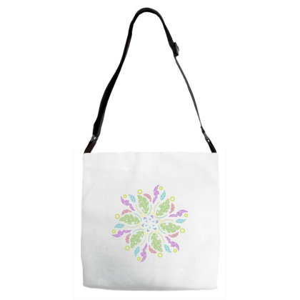 Colorful Flowers Adjustable Strap Totes Designed By Melodicdhyt
