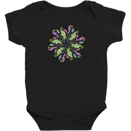 Colorful Flowers Baby Bodysuit Designed By Melodicdhyt
