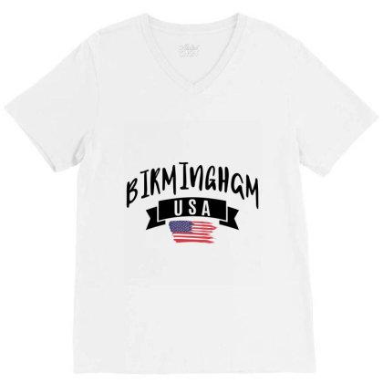 Birmingham V-neck Tee Designed By Ale Ceconello