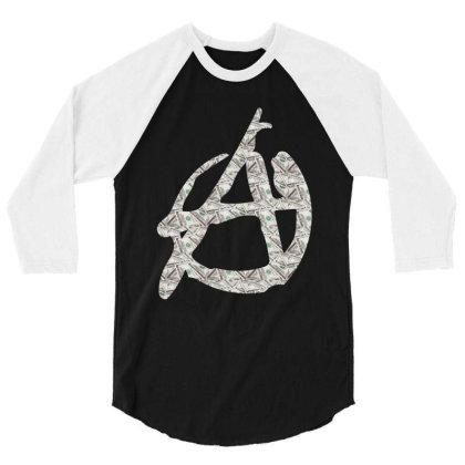 Anarchy Dollars 3/4 Sleeve Shirt Designed By Dav