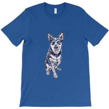 An Australian Cattle Dogs Thalated On W T-shirt Designed By Kemnabi