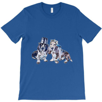 A Male And A Female Basset Ho T-shirt Designed By Kemnabi