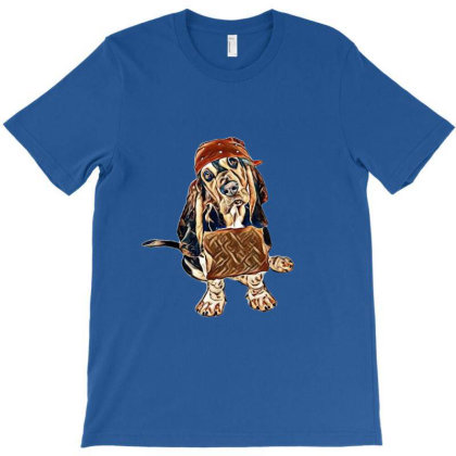 A Young Homeless Basset Hound T-shirt Designed By Kemnabi