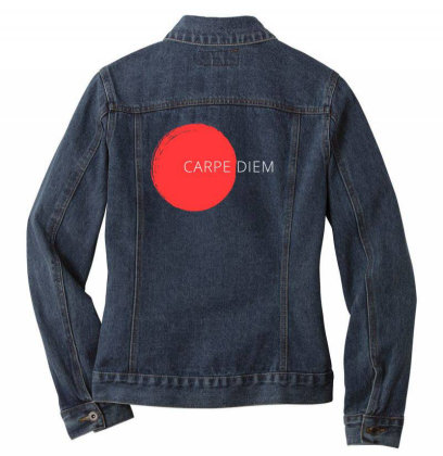 Carpe Diem Design Ladies Denim Jacket Designed By The Sleepy Hero