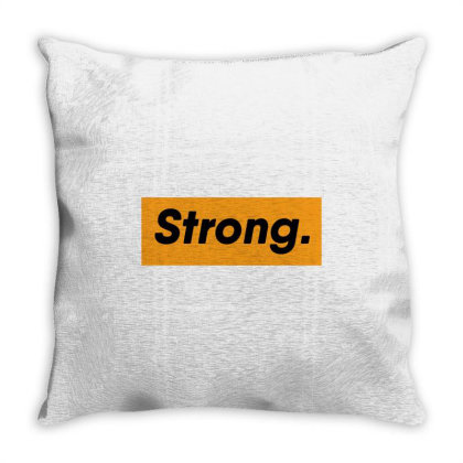 Sports Strong Throw Pillow Designed By Farhanbhk