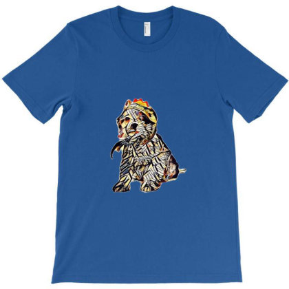 Young Mixed Breed Puppy Weari T-shirt Designed By Kemnabi