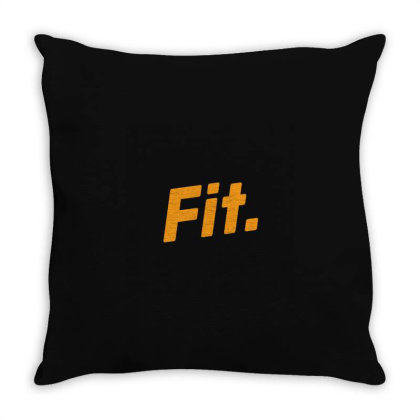 Sports Fit Throw Pillow Designed By Farhanbhk