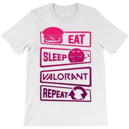 Eat Sleep Valorant Repeat T-shirt Designed By Badaudesign