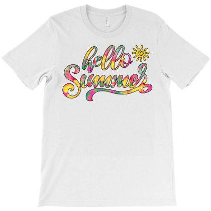 Hello Summer T-shirt Designed By Badaudesign