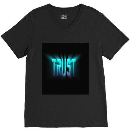 Burst Text Effect V-neck Tee Designed By Zahra_grafics