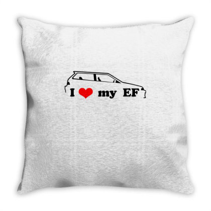 I Love My Ef Throw Pillow Designed By Nextmoon