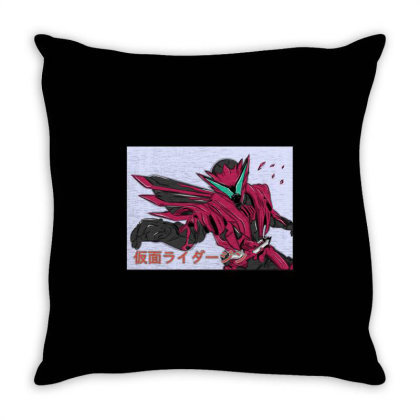 Kamen Rider Jin Burning Falcon Throw Pillow Designed By Tokuproject