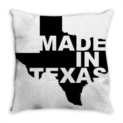 Made In Texas | Black Throw Pillow Designed By Viral Style