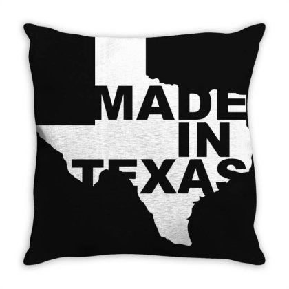 Made In Texas | White Throw Pillow Designed By Viral Style