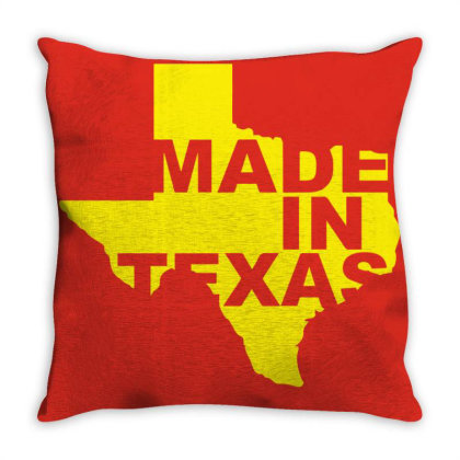 Made In Texas Throw Pillow Designed By Viral Style