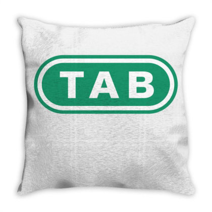 Vintage Tab Throw Pillow Designed By Viral Style