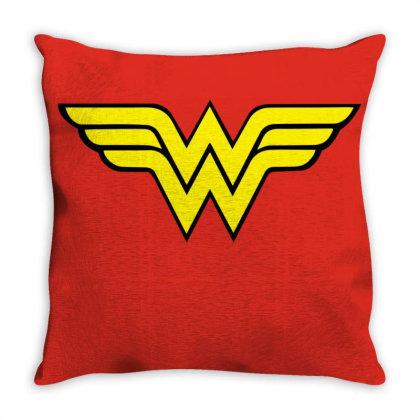 Wonder Woman Throw Pillow Designed By Black Box