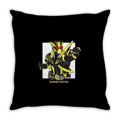 Kamen Rider Zero One Shining Hopper Throw Pillow Designed By Tokuproject