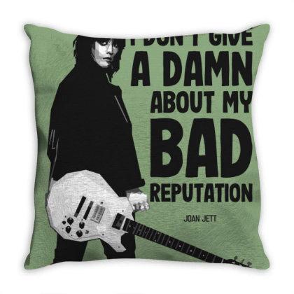 Joan Jett Bad Reputation Throw Pillow Designed By Nyuwunsewu