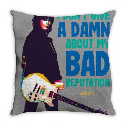 Joan Jett Throw Pillow Designed By Nyuwunsewu