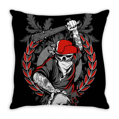 Japan Skull Throw Pillow Designed By Hafidzkholiq_18