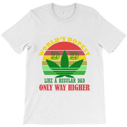 World's Dopest Dad Retro T-shirt Designed By Redline77