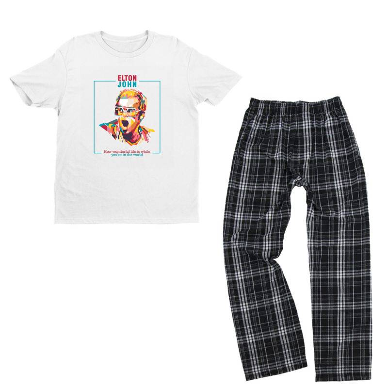 Elton John Youth T-shirt Pajama Set | Artistshot