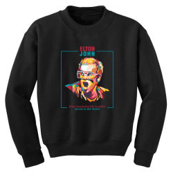 elton john Youth Sweatshirt | Artistshot