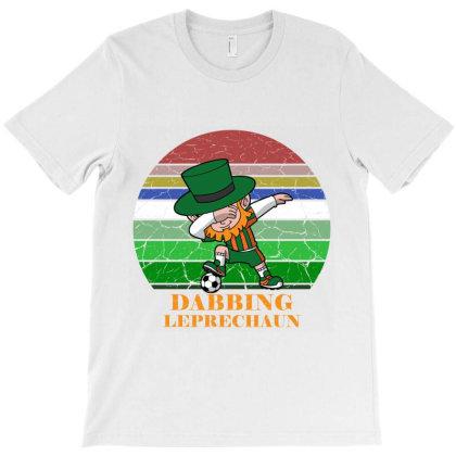 Dabbing Leprechaun Soccer T-shirt Designed By Redline77