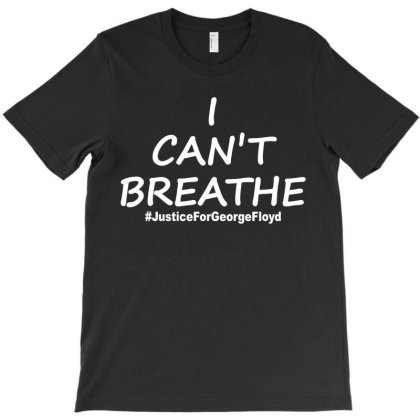 I Can`t Breathe Justice White Print T-shirt Designed By Honeysuckle