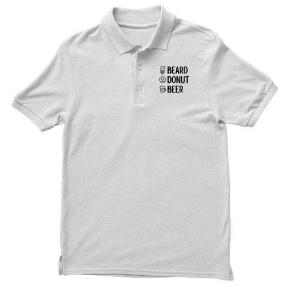 Men Women Kid Beard Donut Beer Lover Funny Checklist Cute Donut Lover Men's Polo Shirt