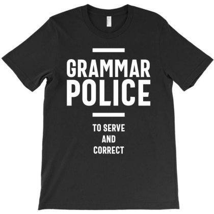 Grammar Police Women And Kids Funny Costume Idea T-shirt Designed By Cidolopez