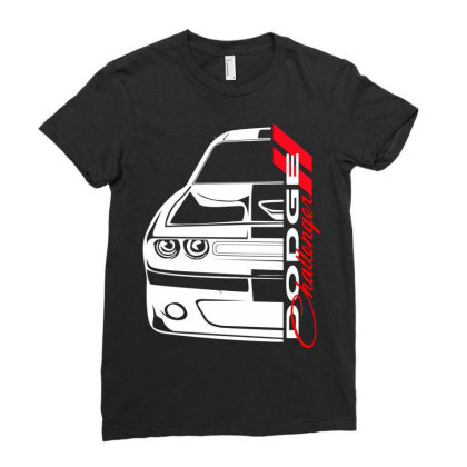 Challenger Srt Ladies Fitted T-shirt Designed By Nextmoon