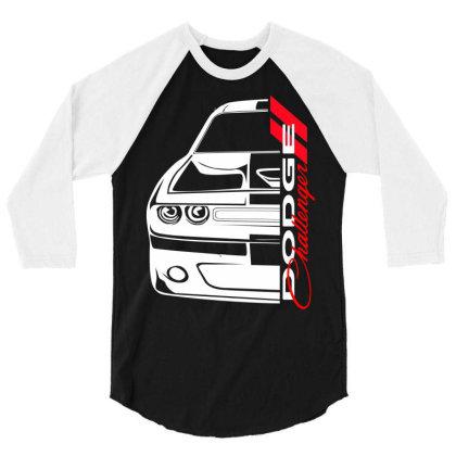 Challenger Srt 3/4 Sleeve Shirt Designed By Nextmoon