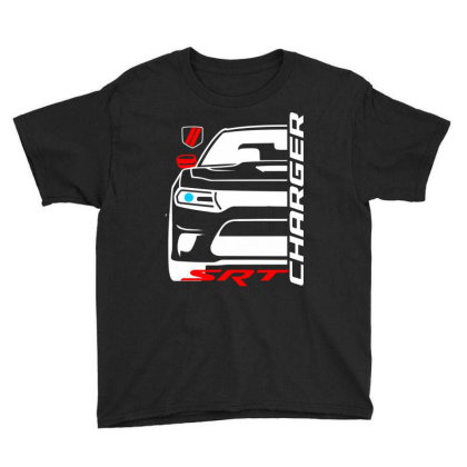 Charger Srt American Muscle Car Youth Tee Designed By Nextmoon