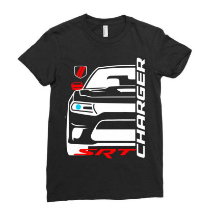 Charger Srt American Muscle Car Ladies Fitted T-shirt Designed By Nextmoon