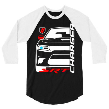 Charger Srt American Muscle Car 3/4 Sleeve Shirt Designed By Nextmoon