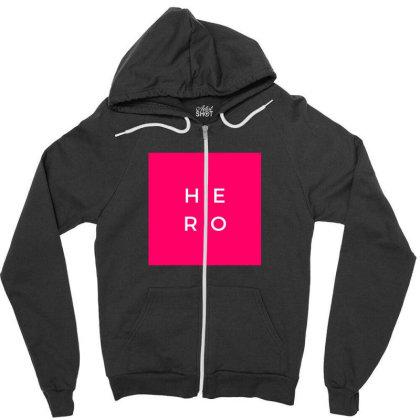 Hero Design Zipper Hoodie Designed By The Sleepy Hero