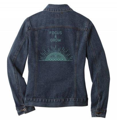 Focus&grow Design Ladies Denim Jacket Designed By The Sleepy Hero