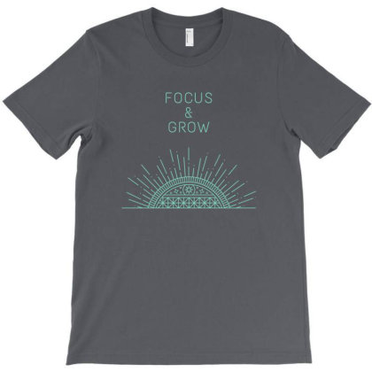 Focus&grow Design T-shirt Designed By The Sleepy Hero