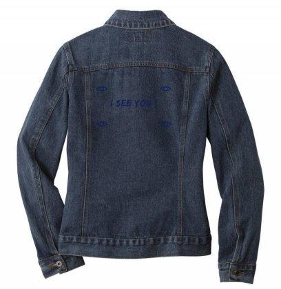 I See You Design Ladies Denim Jacket Designed By The Sleepy Hero