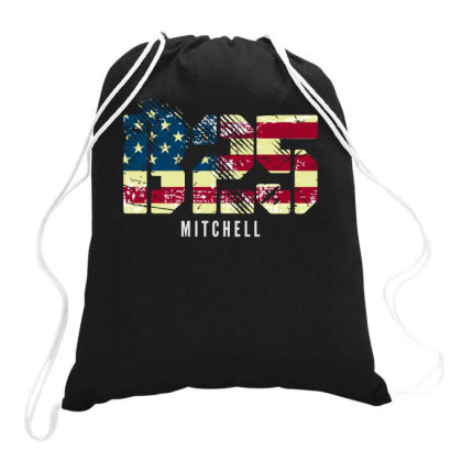 B-25 Mitchell Wwii Bomber Distressed Flag | Aviation Drawstring Bags Designed By John Phillips