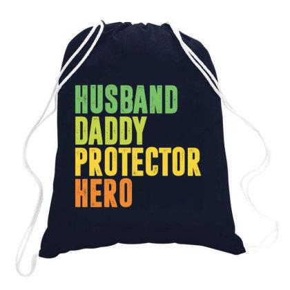 Husband Daddy Protector Hero Drawstring Bags Designed By Jetstar99