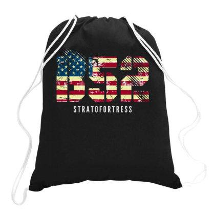 B-52 Stratofortress | Usa Bomber Flag Distressed T-shirt Drawstring Bags Designed By John Phillips