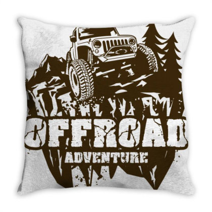 Off Road Adventure 4x4 Throw Pillow Designed By Bose