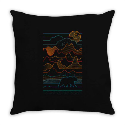 Landscape Vibe Bear Throw Pillow Designed By Mrt90