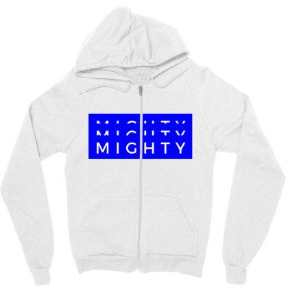 Mighty Design Zipper Hoodie Designed By The Sleepy Hero